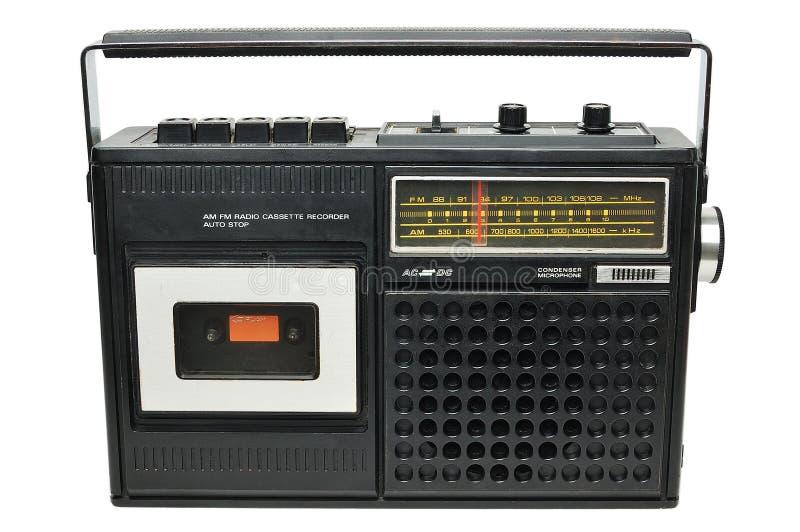 葡萄酒卡式磁带播放机 免版税库存照片