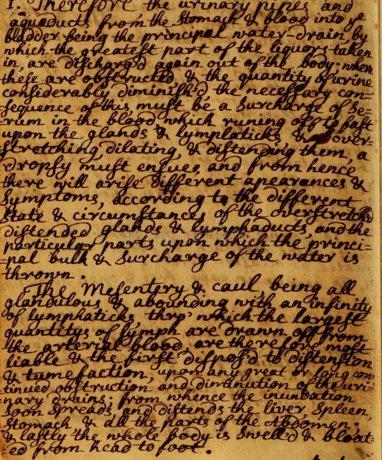 葡萄酒原稿信件背景 免版税库存图片