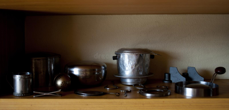 葡萄酒厨房齿轮 免版税图库摄影