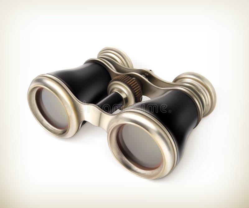 葡萄酒双筒望远镜 库存例证