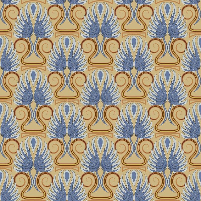 葡萄酒古色古香的无缝的样式 对礼物scrapbooking成套设计的纺织品 向量例证