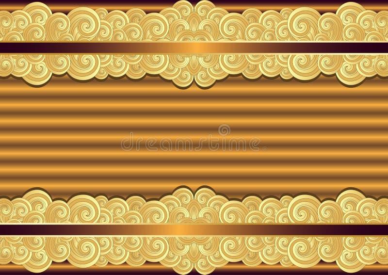 葡萄酒古铜和金框架 皇族释放例证