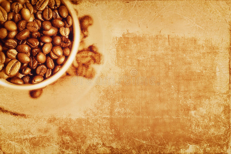 葡萄酒咖啡背景 皇族释放例证