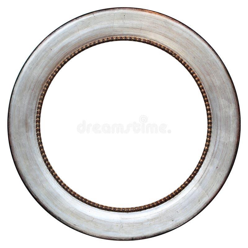 葡萄酒圆的金属化的框架 免版税库存图片