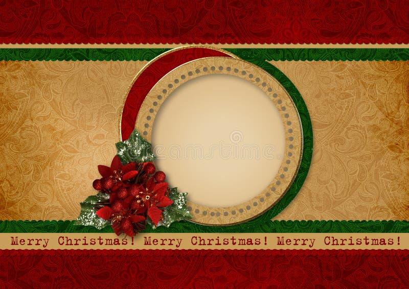 葡萄酒圣诞卡 向量例证