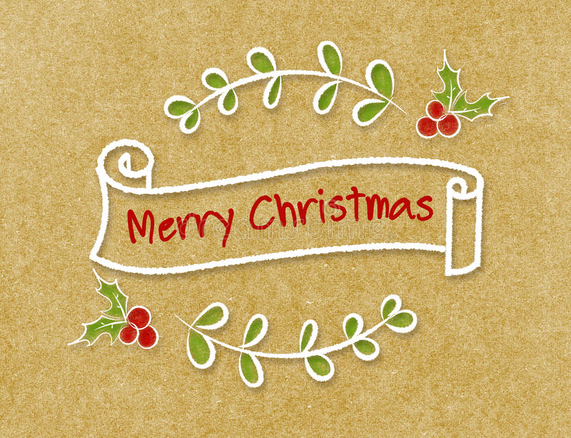 Download 葡萄酒圣诞快乐在乱画样式的丝带横幅在工艺p 库存图片. 图片 包括有 装饰品, 背包, 白垩, 季节, 红色 - 62527825