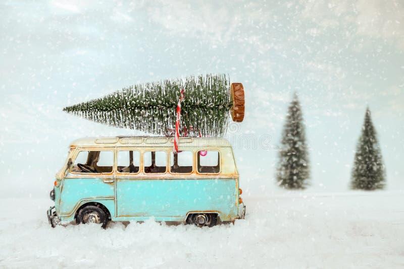 葡萄酒圣诞快乐明信片背景 免版税库存照片