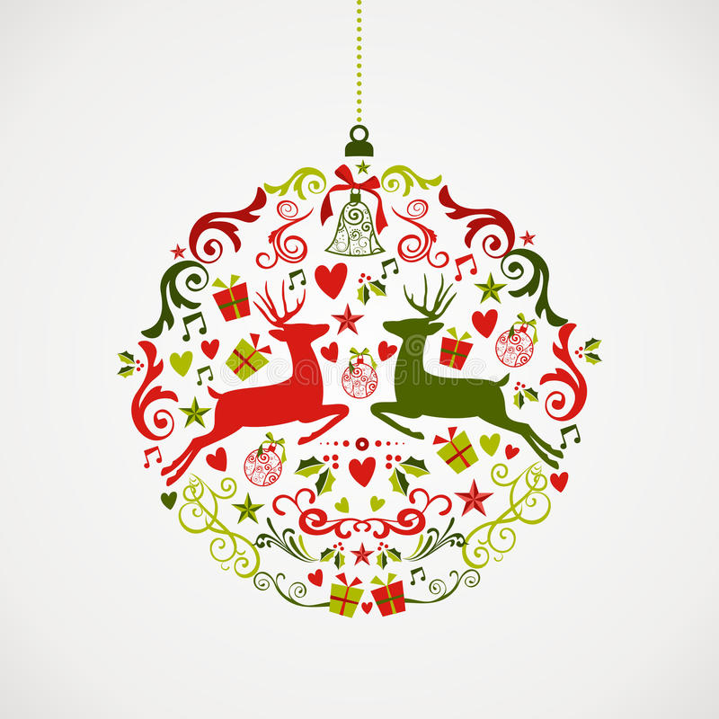 葡萄酒圣诞节元素中看不中用的物品设计EPS10 fil 库存例证