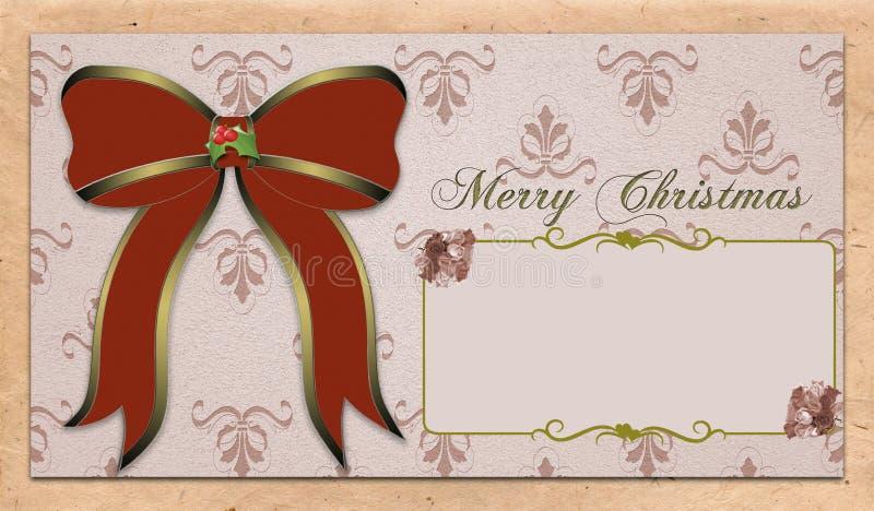 葡萄酒圣诞节明信片 向量例证