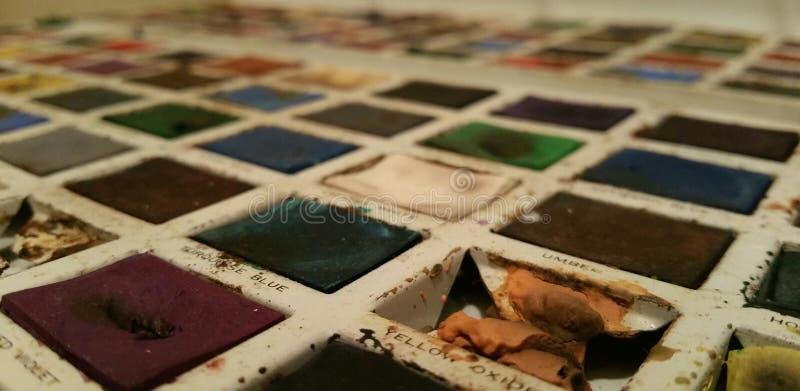 葡萄酒在锡的水彩油漆 免版税图库摄影