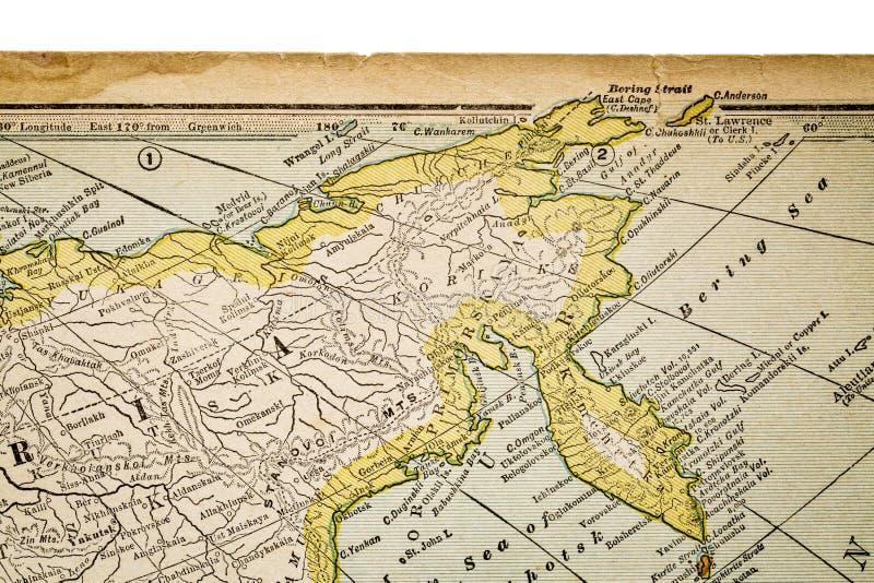 葡萄酒地图的西伯利亚 图库摄影