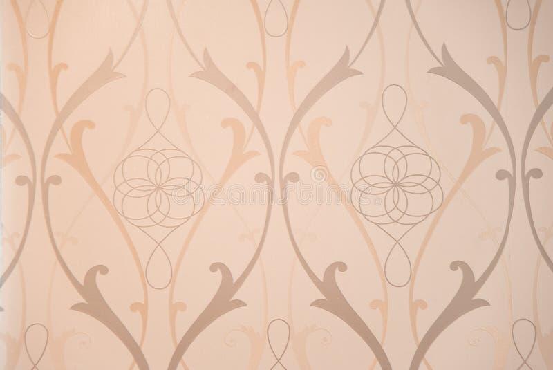 葡萄酒墙纸的接近的模式 免版税图库摄影