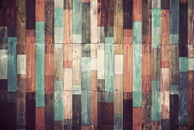 葡萄酒墙纸的木材料 免版税库存照片
