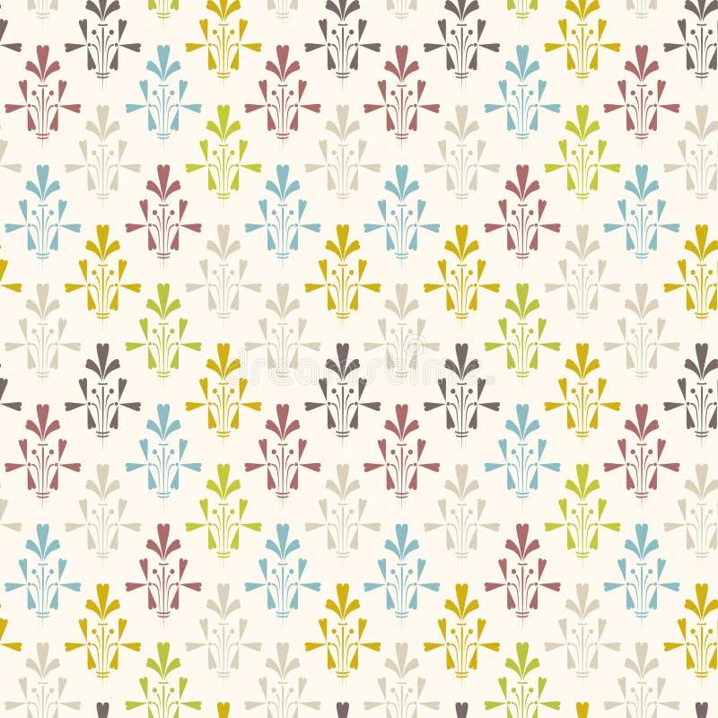 葡萄酒墙纸设计 上色模式可能的变形多种向量 库存例证