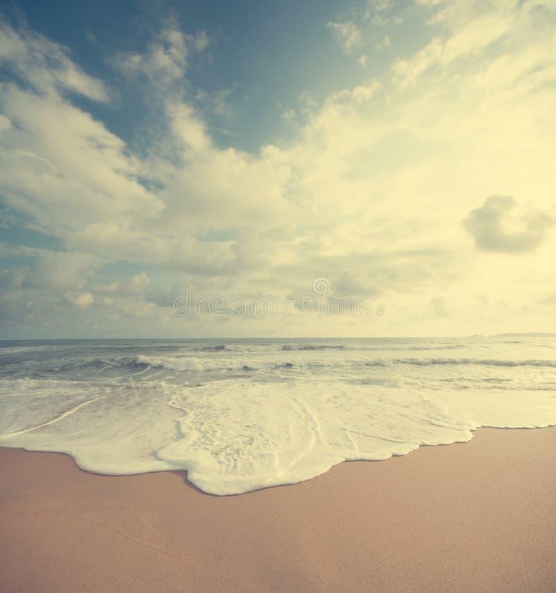 葡萄酒夏天海滩 库存照片
