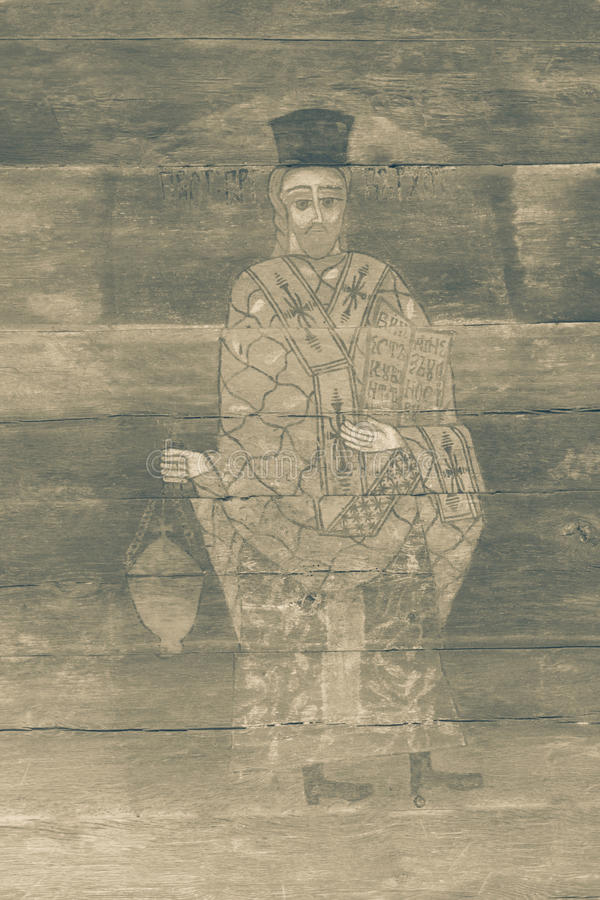 葡萄酒外部宗教绘画 库存例证