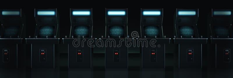 葡萄酒娱乐游戏机器 3d 库存例证