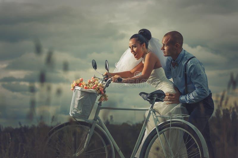 葡萄酒婚礼 免版税库存图片