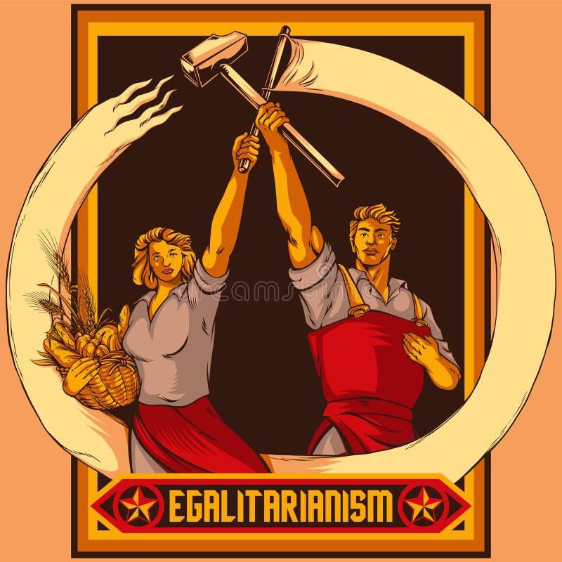 葡萄酒宣传工作和平等夫妇传染媒介例证 向量例证