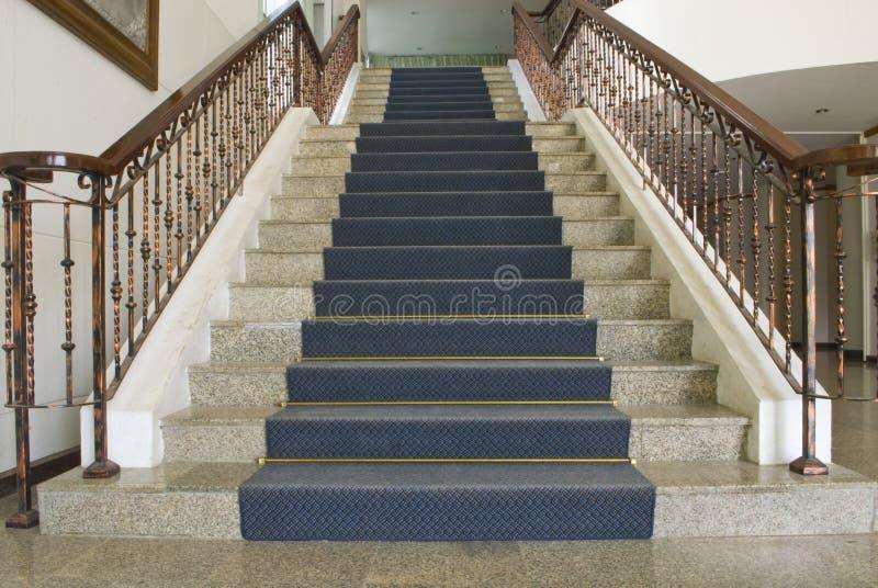 葡萄酒室内典雅的楼梯 库存图片