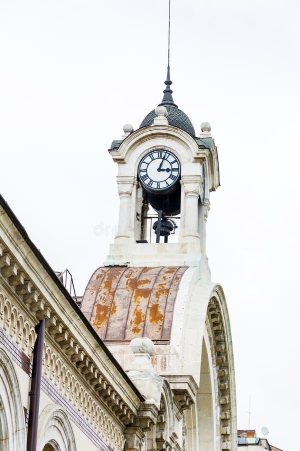 葡萄酒室外时钟在索非亚,保加利亚 库存图片