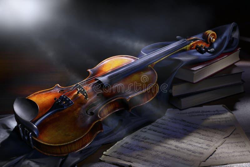 葡萄酒小提琴 免版税库存图片