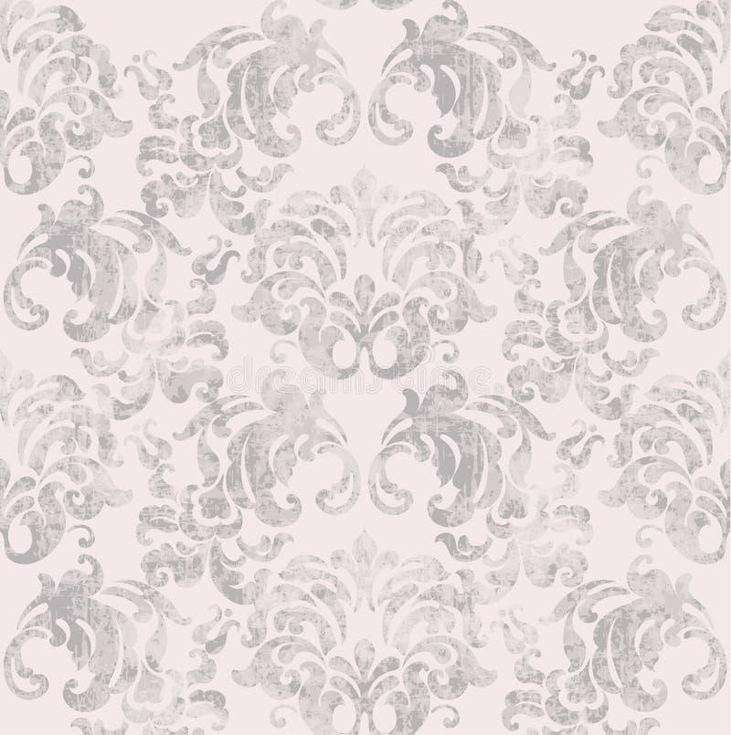 葡萄酒巴洛克式的样式传染媒介 皇家美丽的装饰品装饰 皇家豪华纹理背景 时髦颜色 向量例证