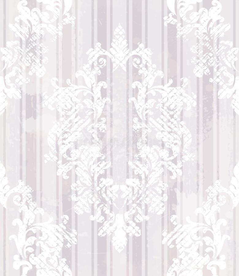 葡萄酒巴洛克式的样式背景传染媒介 在难看的东西纹理的富有的皇家装饰 时髦皇家维多利亚女王时代的纹理的丁香 库存例证