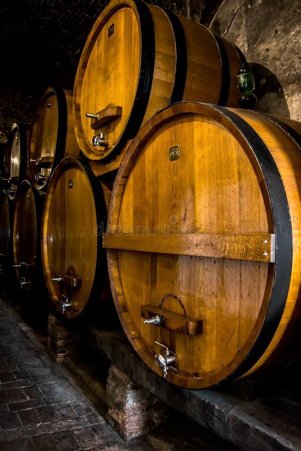 葡萄酒库,托斯卡纳 免版税库存照片