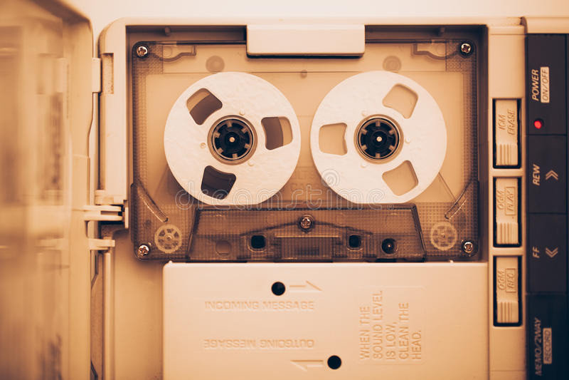 葡萄酒录音磁带协定卡式磁带 库存照片