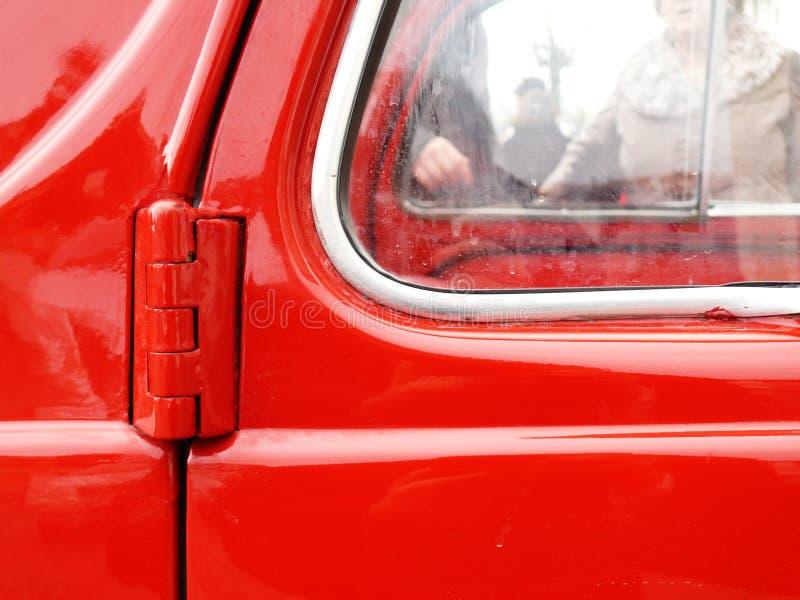 葡萄酒意大利汽车的门的特写镜头 库存照片