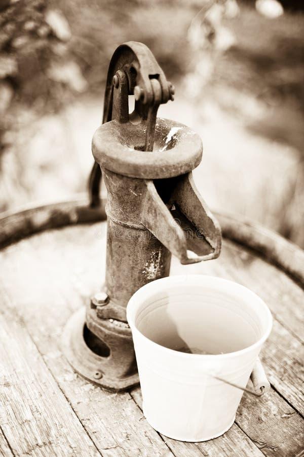 葡萄酒手水泵 免版税库存图片