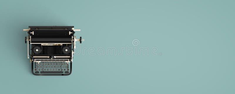 葡萄酒打字机倒栽跳水 库存图片