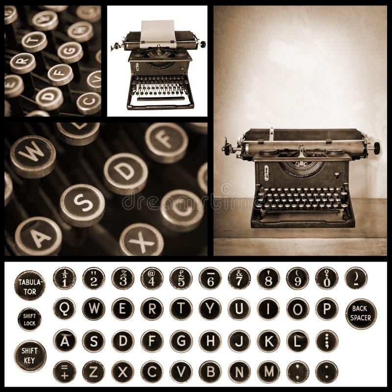 Download 葡萄酒打字机图象汇集 库存例证. 插画 包括有 信函, 乌贼属, 蒙太奇, 编号, 通信, 打字机键盘, 类型 - 53296001