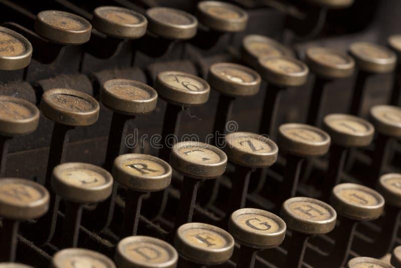 葡萄酒打字机 免版税库存图片