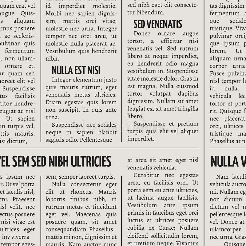 葡萄酒报纸印刷品传染媒介无缝的样式 库存例证