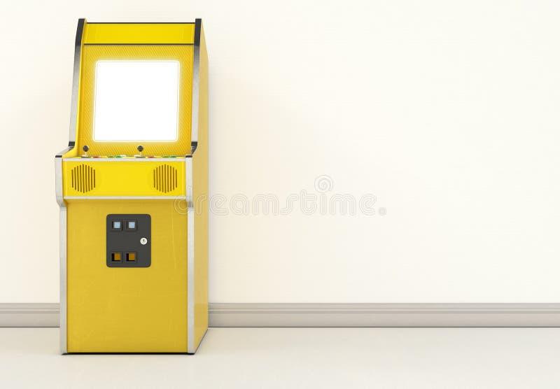 葡萄酒拱廊机器在屋子里 免版税库存图片