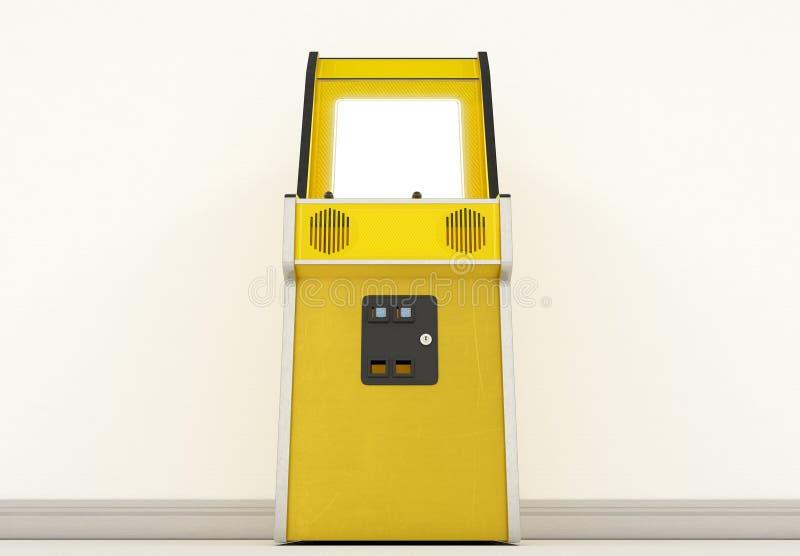 葡萄酒拱廊机器在屋子里 免版税图库摄影