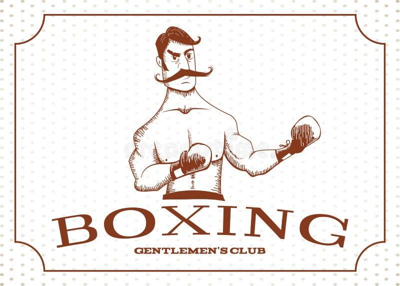 葡萄酒拳击手在机架停留 皇族释放例证