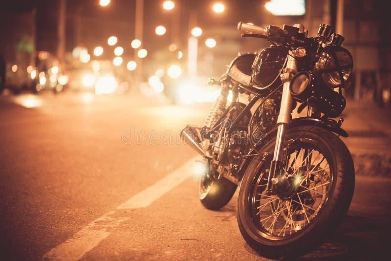 葡萄酒摩托车 免版税库存图片