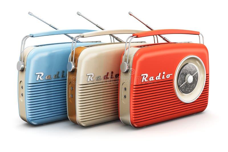 葡萄酒收音机 向量例证