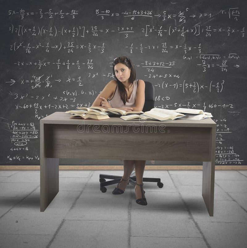 葡萄酒数学老师 库存图片
