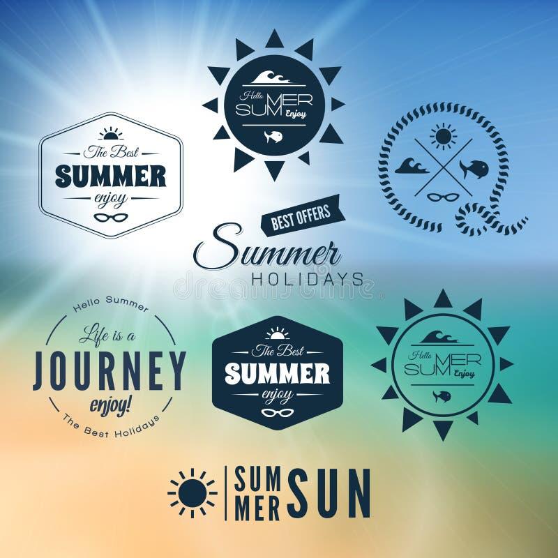 葡萄酒暑假印刷术设计 皇族释放例证