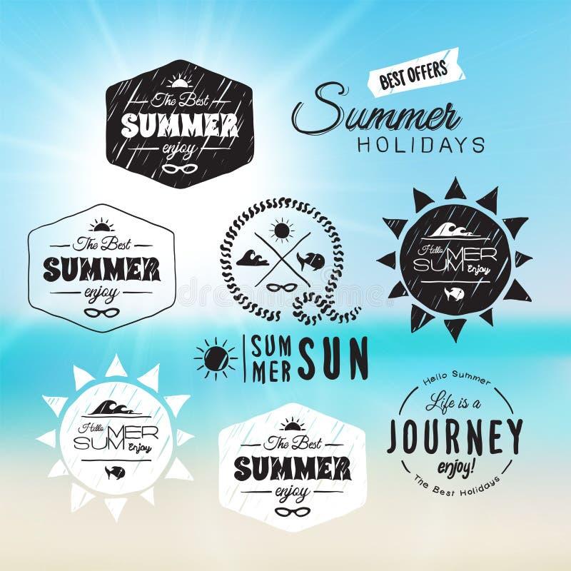 葡萄酒暑假印刷术设计 向量例证