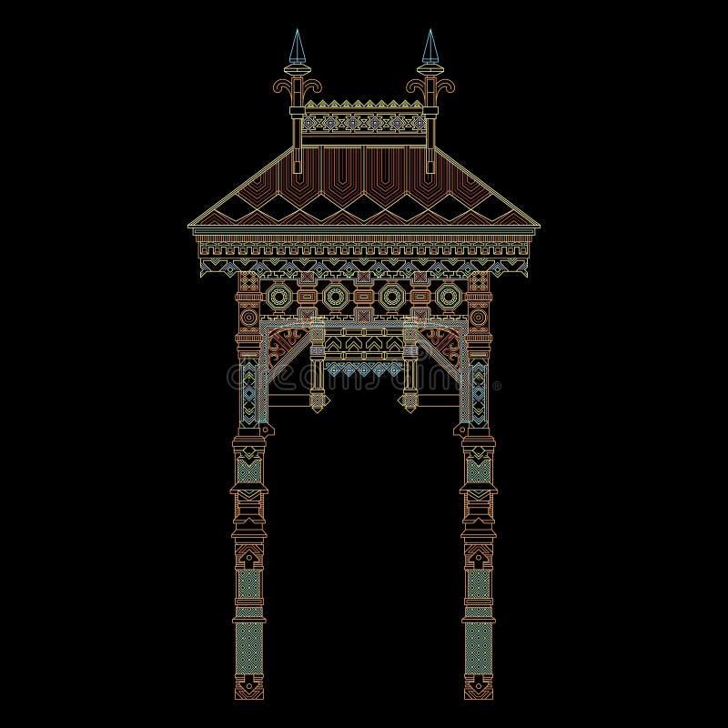葡萄酒曲拱传染媒介 皇族释放例证