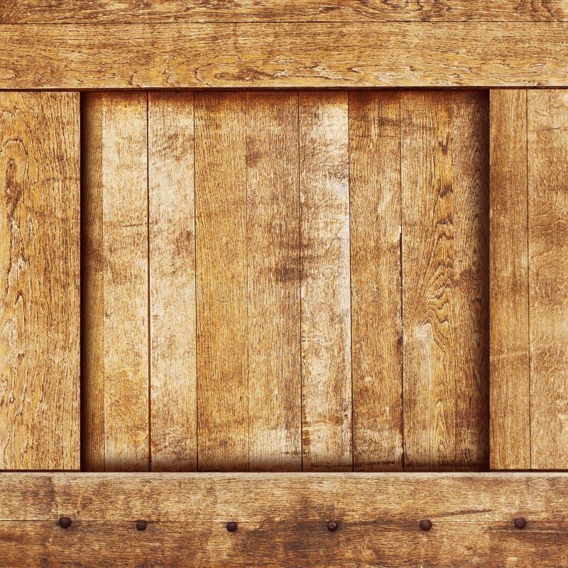 葡萄酒木头配件箱 免版税库存图片