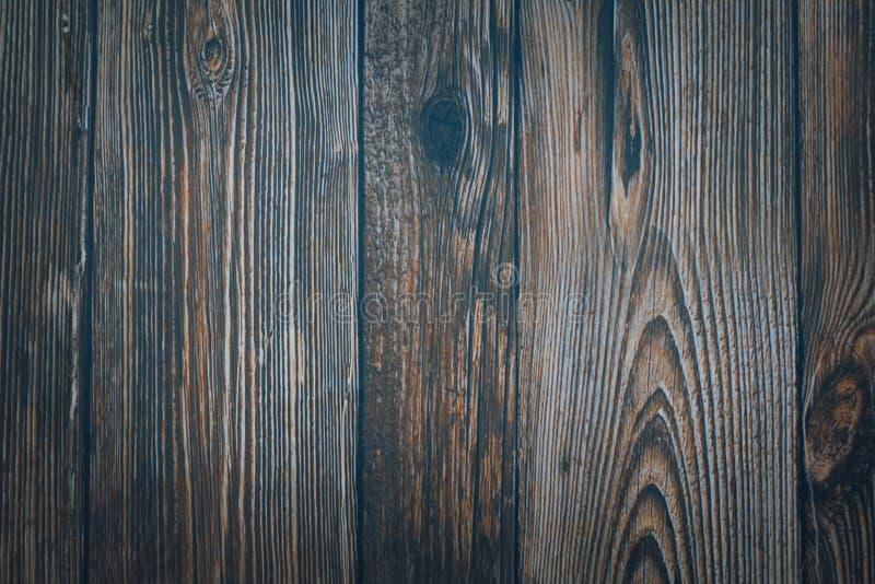 葡萄酒木深蓝水平的板 o r 免版税库存照片
