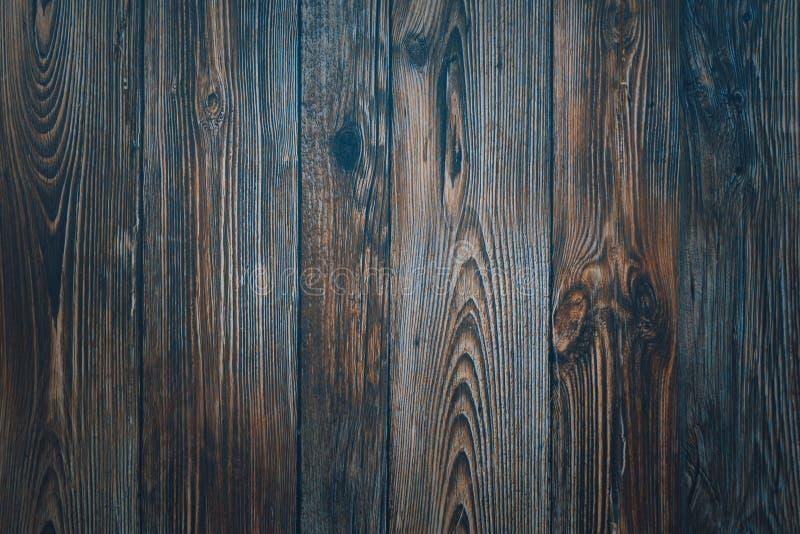 葡萄酒木深蓝水平的板 o r 库存照片