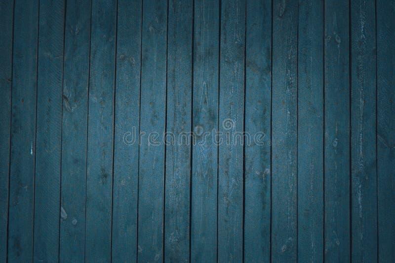 葡萄酒木深蓝水平的板 o r 免版税图库摄影