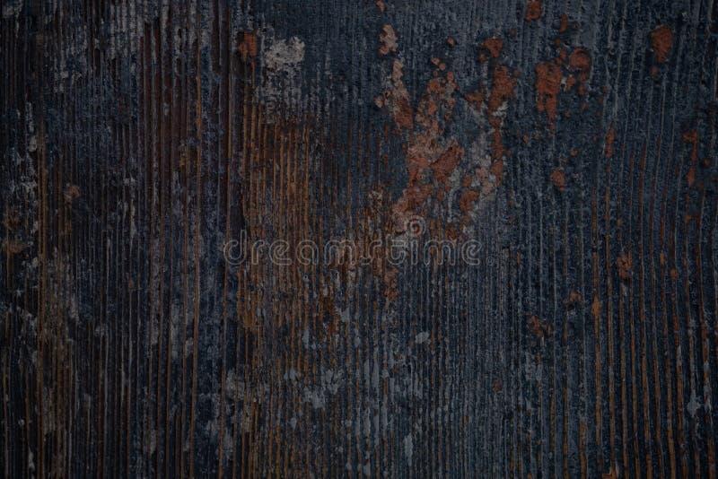 葡萄酒木深蓝水平的板 r r 库存照片